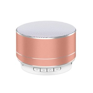 Wholesale Modern Style A10 Bluetooth Speaker Aluminum Alloy Cylinder Subwoofers TF Card Mini Wireless Music Player LX2298