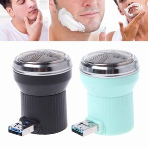 Wholesale Creative Electric Shaver Mini Portable USB Travel Cell Phone Razor Mini Micro USB and USB Portable Electric Trimmer Shaver
