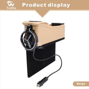 Car Storage Box,Console Side Pocket Coin Holder 2 USB Ports,Seat Filler Gap Cell Phones,Keys,Cards,Charger