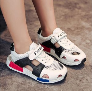 Wholesale Children's Sandals 2018 New Summer Autumn Mesh Breathable Sneakers Girls Genuine Leather Sandals Boys Fashion Breathable Shoes