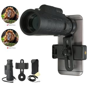 35x50 HD Zoom Phone Camera Lens Monocular Telescope Professional Observing Hunting Telescope For + Phone Holder