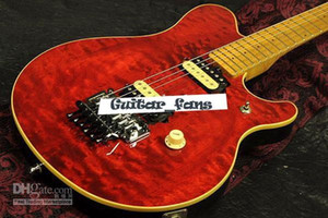 1991 Eddie Van Halen Wolf Music Man Ernie Axis Red Flame Maple Top Electric Guitar Maple Neck Back Cover In Stock