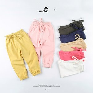 Wholesale Zero Also Children's Garment Summer New Product In Children Clean Colour-purity Cotton All-match Male Girl Defence Mosquito Pants Soft