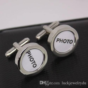 High quality wedding cufflinks with your names or wedding photos on the cufflinks copper material 1pr per lot