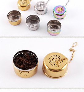 Wholesale Creative Teas Strainers Mesh Stainless Steel Tea Infuser Hollow Out Suspension Design Ball Filter Kitchen Accessories