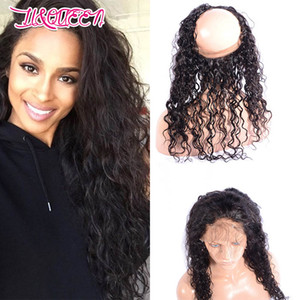 Malaysian Unprocessed Virgin Hair 360 Lace Frontal Pre Plucked With Baby Hair Water Wave Curly 8-24inch Malaysian Human Hair Frontal