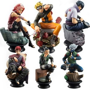 6pcs  Set Naruto Action Figures Dolls Chess New Pvc Anime Naruto Sasuke Gaara Figurines For Decoration Collection Gift Toys on Sale