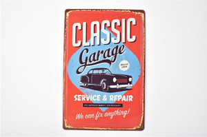 Wholesale classic tin signs for sale - Group buy Classic Garage Service Repair Vintage D Embossed Rustic Home Bar Pub Hotel Restaurant Coffee Shop home Metal Retro Metal Tin Sign