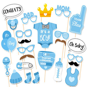 Wholesale Baby Shower Photo Booth Props Party Decoration Boy Fun st Birthday gift wedding favor PhtotoBooth props party supplies set