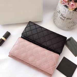 Wholesale with box Women Genuine leather long style zipper cow leather wallet lady fashion style purse phone bag new arrival