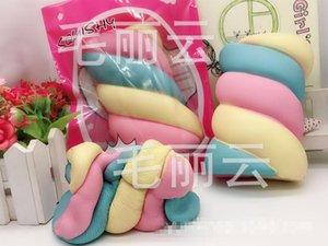 14CM 90G PCS Squishy Marshmallow Slow Rising Candy Bread Cake Scented Toys Gift Rainbow Marshmallow Squishy