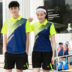 Wholesale Women Men Badminton Tennis Clothing Table Tennis Shirt Shorts Sport Clothes Set Breathable Quick Dry Sport Suits skirt female