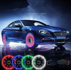 Wholesale 15 Mode Solar Energy LED Car Auto Flash Wheel Tire Valve Cap Neon DRL Daytime Running Light Lamp Car Wheels Lamp Auto Acccessories KKA4537