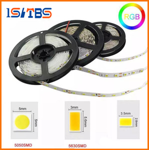 Wholesale Led Strips Light M Warm White Red Green Blue RGB Flexible M Roll Leds V outdoor Ribbon Waterproof