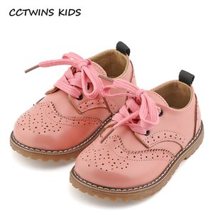 CCTWINS KIDS 2017 spring autumn child pink flat genuine leather toddler fashion shoe baby girl brand loafer oxford white G973 Y18110304 on Sale