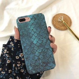 Wholesale For Iphone Phone Cases Mermaid Fish Scales Blue South Korea INS Same Paragraph Cell Phone Case For Iphone X Plus
