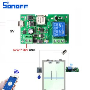 Wholesale sonoff DC5V v v wifi switch wireless Relay module Smart home Automation access control Inching Self Locking usb interface