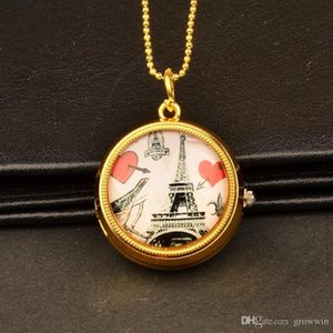 Wholesale New Hot Rotatable Cartoon Anime Pocket Watch Children students Couples Gifts Hanging Watches Pocket Watches D0567