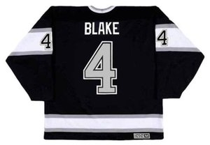 2018 Wholesale Cheap ROB BLAKE Los Angeles Kings 1993 CCM Vintage Away Hockey Jersey All Stitched Top-quality Any Name Any Number on Sale