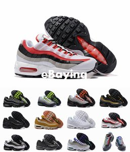 2018 Ultra 20th Anniversary 95 Mens Running Shoes 95s Greedy Neon Black Wolf Grey MenTrainers Tennis Zapatos Sneakers Size7-12 Free Shipping