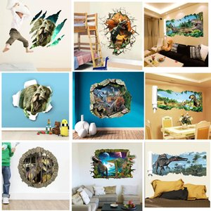 Wholesale Cartoon d dinosaur Wall Stickers Decals for kids rooms Art for Baby Nursery Kids Room Home Decoration Poster