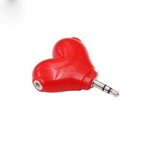 Newest Y Heart model Headphone Splitter Adapter Mini Cell Phone Adapters 2 In 1 Dual Audio earphonephone Adapter For iphone Samsung