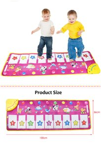 Wholesale New Creative Baby Touch Play Keyboard Musical Toys Music Carpet Mat Blanket Early Education Tool Toys Two Version Learning Toys