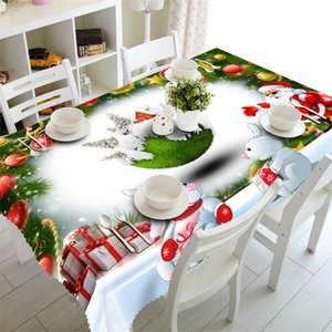 Wholesale tablecloth christmas for sale - Group buy Colorful New Year Christmas Tablecloth Kitchen Dining Table Decorations Home Rectangular Party Table Covers Christmas Ornaments