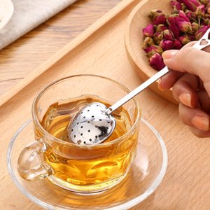 Wholesale Featured Pc Stainless Steel Practical Heart Shape Tea Infuser Spoon Strainer Steeper Handle Shower Table Tool