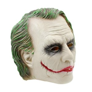 Wholesale On Sale Joker Mask Clown Costume Cosplay Movie Adult Party Masquerade Rubber Latex Mens Masks For Men Halloween