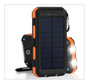 Wholesale New mAh Solar Charger Solar Power Bank Shockproof mobile solar phone charger battery pack Flashlight for CellPhone