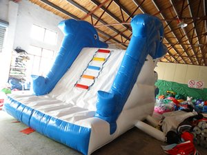 Wholesale backyard pools resale online - 2017 new design inflatable slide for pool inflatable pool slides