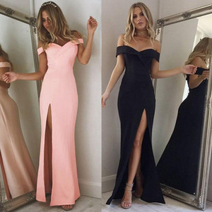 Wholesale 2017 Boho Style Long Dress Women Off Shoulder Beach Summer Dresses Slim Vintage Chiffon White Maxi Dress