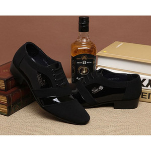 Wholesale NEW HOT Style Men s Wedding Groom Shoes Mens Shiny Leather Shoes Unique Men Casual Shoes Eur Size