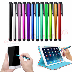 mesa para ipad venda por atacado-Tela capacitiva Stylus Pen caneta de toque colorida Pen para iphone ipad x Android Samsung mesa telefone