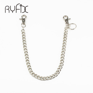 Fashion Punk Hip-hop Trendy Belt Waist Chain Male Pants Chain Hot Men Jeans Silver Metal Clothing Accessories Jewelry DR48