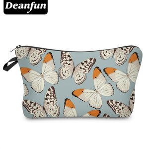 Wholesale Deanfun Cosmetic Bags D Printed Colorful Butterfly Necessary for Girls Storage Toiletry Travelling Dropshipping