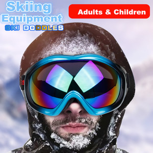 Wholesale Ski Goggle Single Layer Lens HD Dazzle Color Windproof glasses Motorcycle Skiing Snow Ski Mask For Men Wwomen Kid Adult