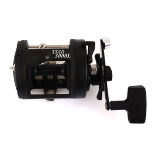 Wholesale Black Plastic Trolling Reel Fishing Rod Sea Drum Wheel Boat Fishing Reel Durable Rock Fishing Dripping Wheel Portable
