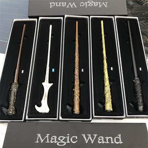 Wholesale LED Harry Potter Magic Wand Light Up Hermione Voldermort Magic Wands Halloween Cosplay Magic Wand Gift In Box design OTH545