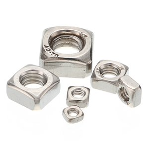 Wholesale Lots of 100pcs M3 M4 M5 M6 M8 M10 Stainless Steel A2 304 Square Nuts For Screws Bolt DIN557