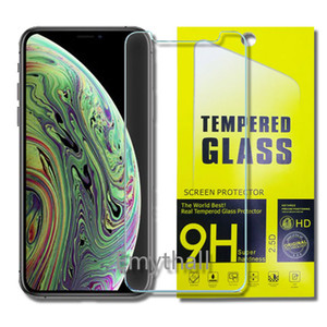 Wholesale Tempered Glass Screen Protectors For Iphone XR XS MAX X J3 J7 Prime LG Q7 Plus Q8 M320 Moto E5 plus Mix Phone Screen Protecter