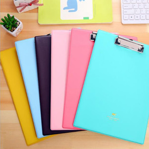 Wholesale Many color paper cardboard a4 file clip writing board document folder for office and school use