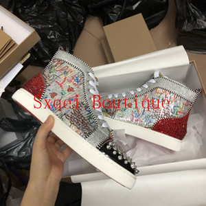 Wholesale New Shoes Man Red Bottom Sneakers Spikes Flats Red Bottom Shoes For Men Luxury Italian Designer Brand Casual Shoes DHL