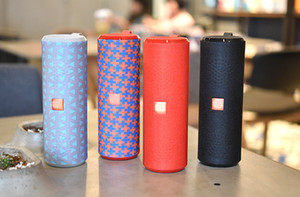 Wholesale Colorful Fabric Long Column Portable Woofer Wireless Bluetooth Speaker Column Stereo Subwoofer USB Speakers Waterproof Radio FM