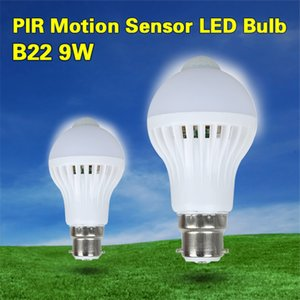 Wholesale New Smart Home automation LED PIR Motion Sensor Bulb B22 Induction Ampoule White LED Lighting Engery Infrared Body Sensor Lamp