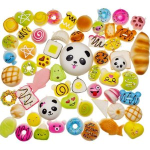 30pcs Kawaii Squishy Rilakkuma Donut Soft Squishies Cute Phone Straps Slow Rising Squishies Jumbo Buns Bag Phone Charms Different Styles