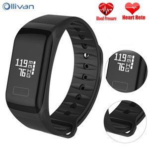 Wholesale Ollivan Fitness Bracelet Smart Bracelet F1 Blood Pressure Wristband Sport Watch Intelligent Colorful Smart Band LED Touch