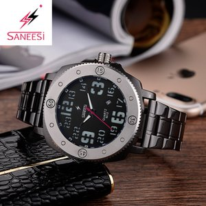 Wholesale Zegarek Meski Stainless Steel Band Big Size mm Watches With Date Function Quartz Watch Men