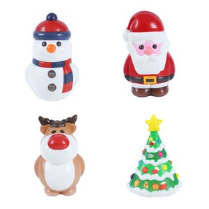 Wholesale Simulation Christmas snowman tree deer Squishy Slow rebound Santa Claus Squeeze toys Xmas PU Decompression Toy cartoon Kawaii Charms C5234